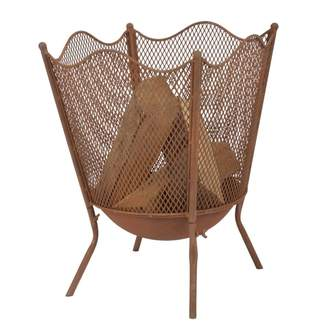 Graham and Green Rust Fire Basket
