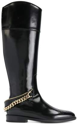 Lanvin chain-embellished boots