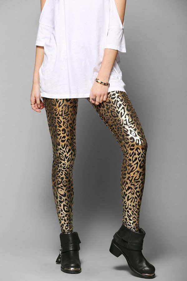 Betsey Johnson Liquid Leopard Legging