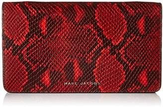 Marc Jacobs Block Letter Snake Wallet Leather Strap Clutch