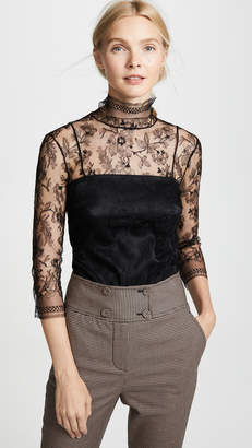 ADAM by Adam Lippes Chantilly Lace Turtleneck