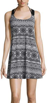 Porto Cruz Medallion Knit Swimsuit Cover-Up Dress