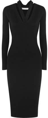 Dion Lee Ribbed-knit Midi Dress - Black