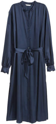 H&M Long Shirt Dress - Blue