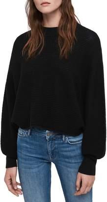 AllSaints Gene Blouson Merino Wool Sweater