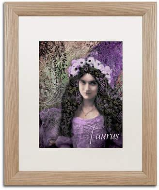 Color Bakery 'Art Nouveau Zodiac Taurus' Matted Framed Art