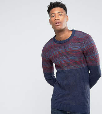 Another Influence TALL Jacquard Block Knitted Jumper