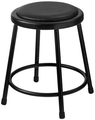 """National Public Seating Padded Stool with Footring Seat Height: 18"""" H, Frame"""