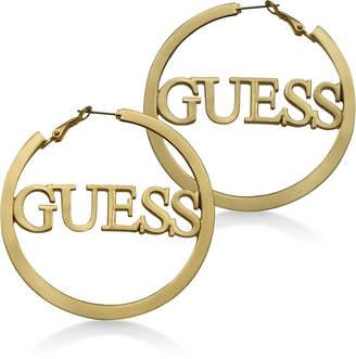"""GUESS Logo 2 1/4"""" Hoop Earrings"""