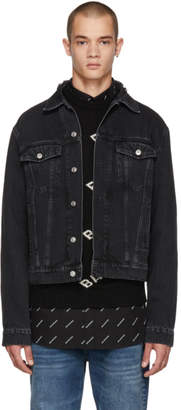 Balenciaga Black Denim Campaign Jacket