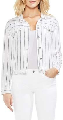 Vince Camuto Pinstripe Linen Blend Jacket
