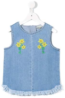 Stella McCartney floral embroidered top