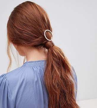 Orelia pearl circle hair clip