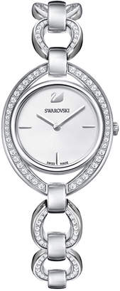 Swarovski Women's Swiss Stella Stainless Steel Link Bracelet Watch 29x35mm
