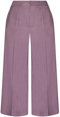 Gisy Iris Aubergine Silk Pants