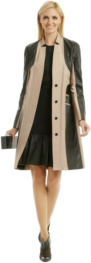 Yigal Azrouel Leather Panel Trench
