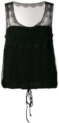 Alberta Ferretti scoop neck vest top