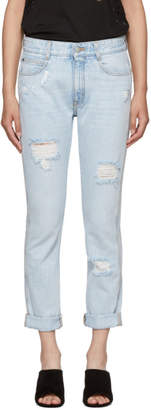 Stella McCartney Blue Distressed Skinny Boyfriend Jeans