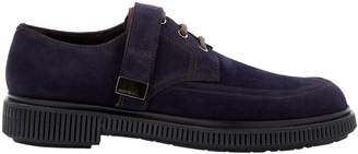 Jimmy Choo Navy Suede Lace ups