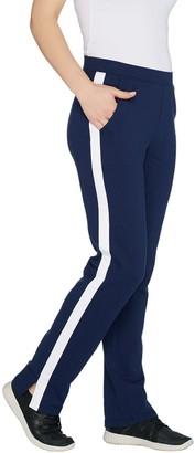 Denim & Co. Active Petite Knit Pants with Contrast Trim