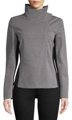 Escada Sport Houndstooth High-Neck Jacket