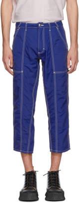 Eckhaus Latta Blue Blunt Trousers