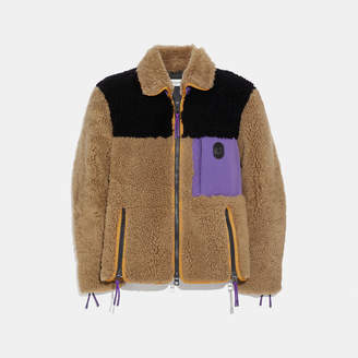Coach Colorblock Shearling Jacket