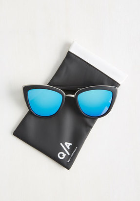 Quay Eyewear My Girl Sunglasses in Blue Lenses $49.99 thestylecure.com