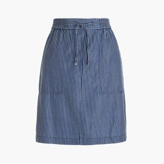 J.Crew Pull-on utility skirt in railroad stripe