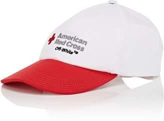 Off-White Women's Red Cross Cotton Twill Baseball Cap