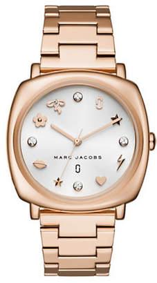 Marc Jacobs Mandy Rose Goldtone Stainless Steel Link Bracelet