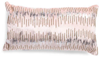 Made In India 12x24 Beaded Pillow