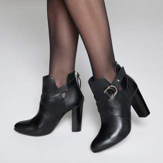 La Redoute COLLECTIONS Leather Open Side Ankle Boots