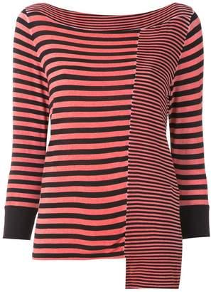 M·A·C Mara Mac striped asymmetric blouse