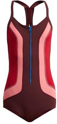Isabel Marant Toan Colour Block Swimsuit - Womens - Burgundy Multi