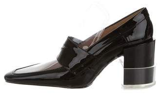 Maison Margiela PVC-Trimmed Penny Loafers w/ Tags
