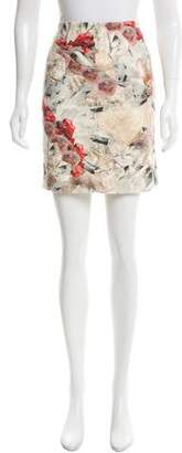 Cacharel Abstract Print Mini Skirt