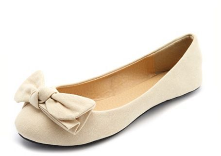 Charlotte Russe Canvas Floppy Bow Flat