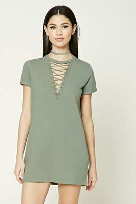 FOREVER 21+ Crisscross Lace-Up Dress $14.90 thestylecure.com