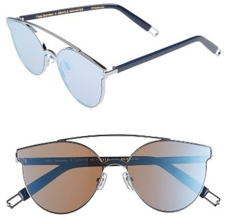 Women's Tilda Swinton X Gentle Monster Trick Of The Light 60Mm Shield Sunglasses - Blue Mirror $286 thestylecure.com