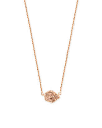 Kendra Scott Tess Pendant Necklace in Rose Gold