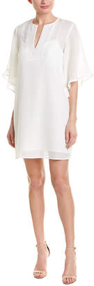 BCBGMAXAZRIA Mesh Shift Dress
