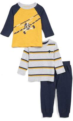 Little Me Airplane 2-Pack Shirts & Sweatpants Set