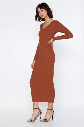 0bd4e2135300 Nasty Gal Knit Remains to V Seen Ribbed Dress