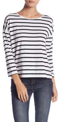 Romeo & Juliet Couture Long Sleeve Striped T-Shirt