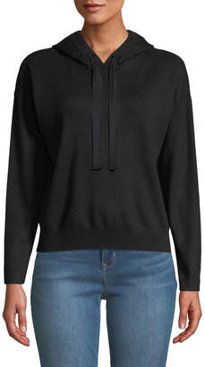 Nicole Miller New York Cropped Hooded Sweater
