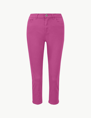 Marks and Spencer Mid Rise Super Skinny Leg Cropped Jeans