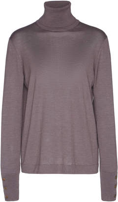 Agnona Eternals Cashmere And Silk Turtleneck With Buttons On Cuffs