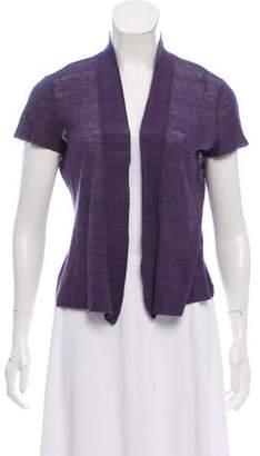 Eileen Fisher Short Sleeve Open Front Top