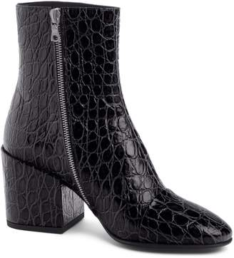Dries Van Noten Croc Embossed Bootie